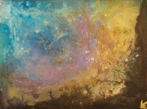 Borealis II 30x22 Mixed Media on Paper