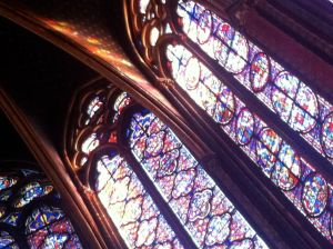 stained glass and sunlight